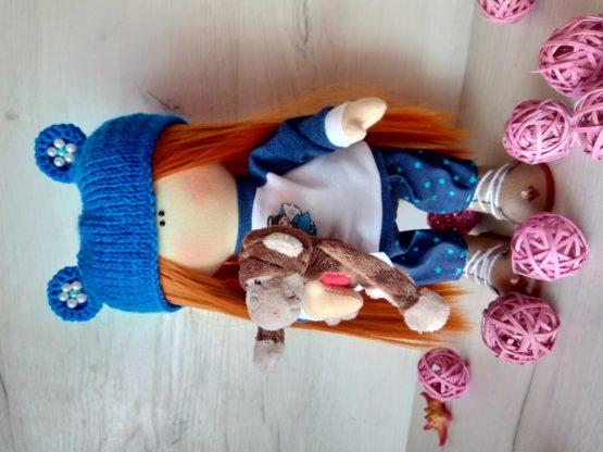 Кукла ручной работы текстильная