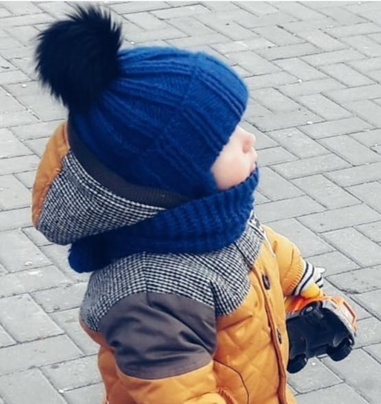 шапочка и шарфик детские